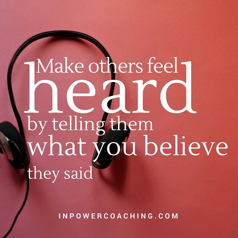 make others feel heard
