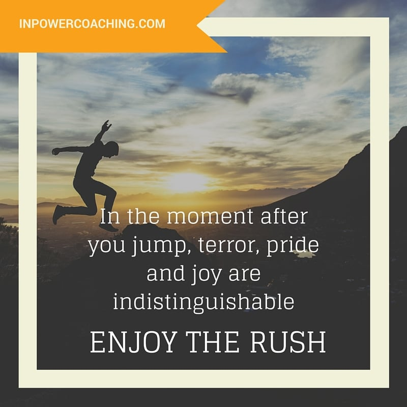 enjoy the rush