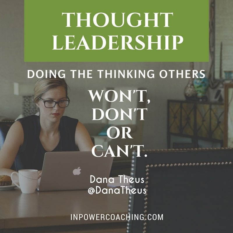 Thought Leader: Is Thought Leadership The Same As Change Leadership?