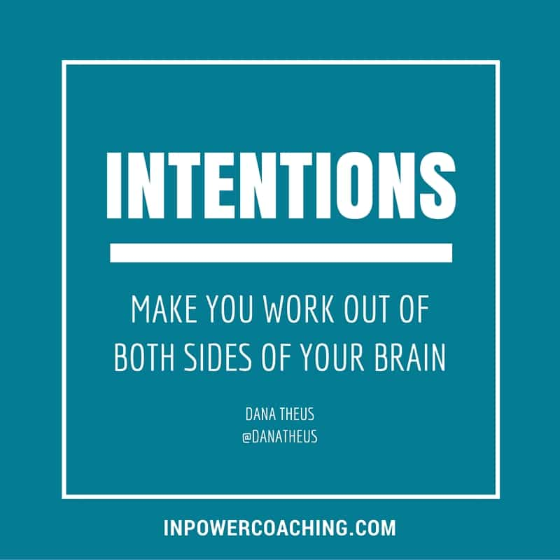 Goals vs. Intentions - New Ways to Focus