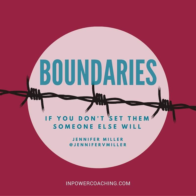 Boundaries - Jennifer V Miller