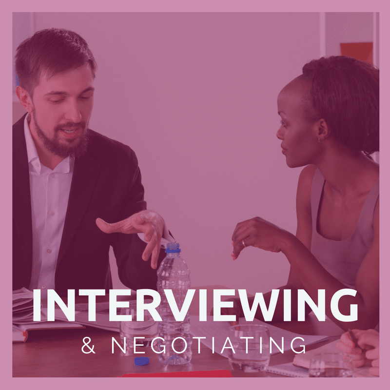 Career Track 5:  <br/>Interviewing & Offer Negotiations