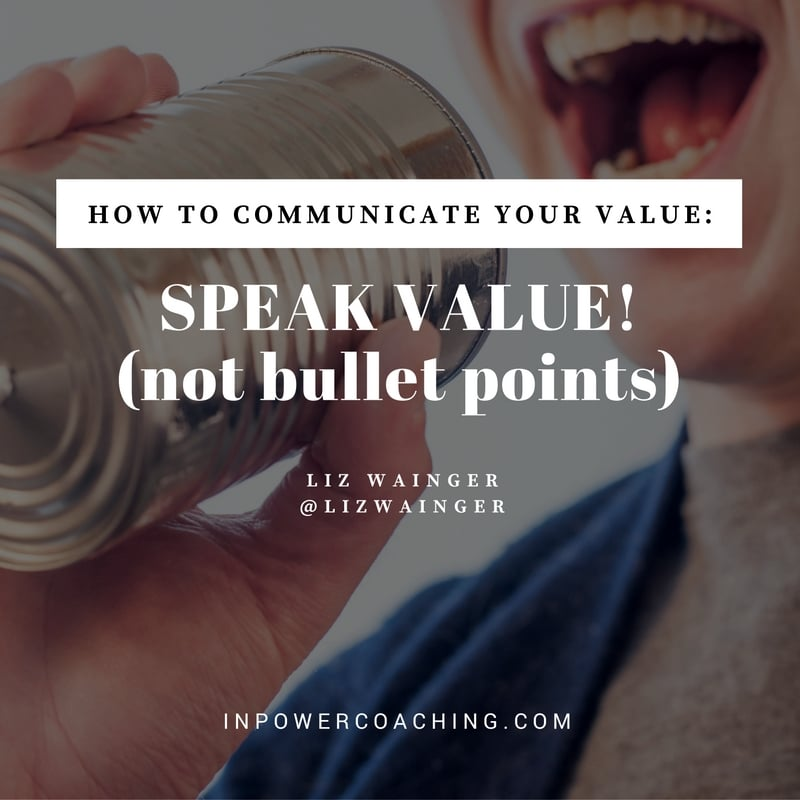 Stop Making Lists and Start Communicating Your True Value